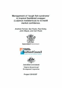 Management of 'Tough' fish syndrome (TFS) in tropical