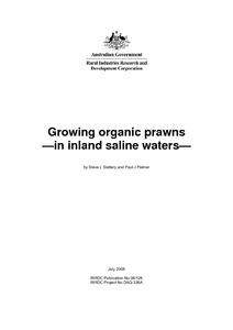 Growing organic prawns - in inland saline waters - DAF eResearch