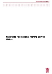 Statewide Recreational Fishing Survey 2013–14 - DAF
